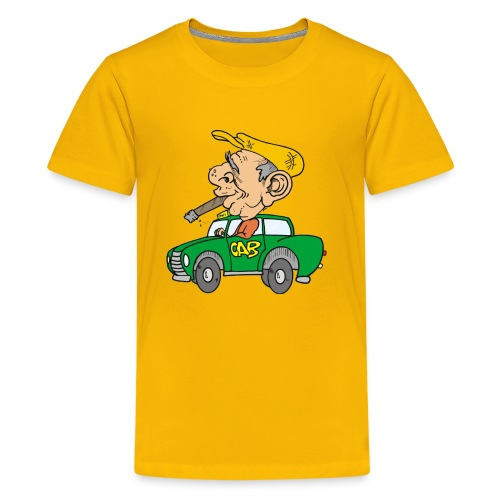 Old cab/Taxi driver enjoying Cigar - Kids' Premium T-Shirt