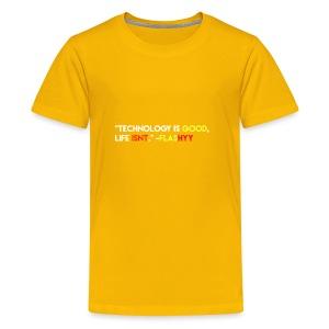 Flashyy- Technology is Good, Life Isnt - Kids' Premium T-Shirt
