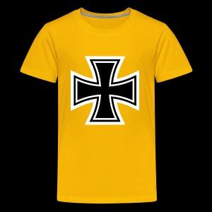 ESCAPE WORLD CROSS HOODIE - Kids' Premium T-Shirt