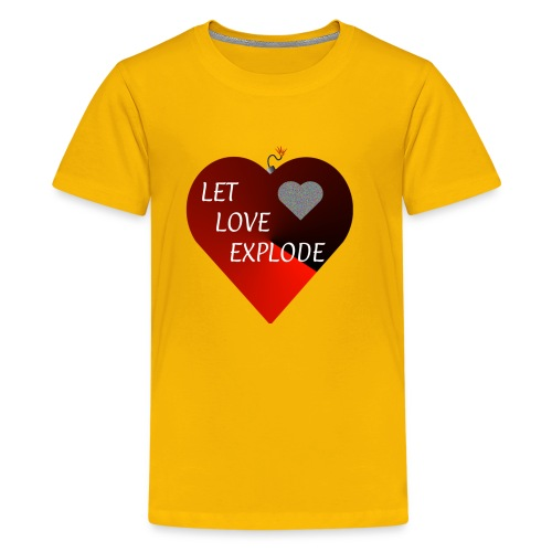 Let Love Explode Heart - Kids' Premium T-Shirt