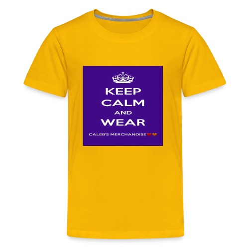 Keep Calm And Wear Caleb's Merchandise - Kids' Premium T-Shirt