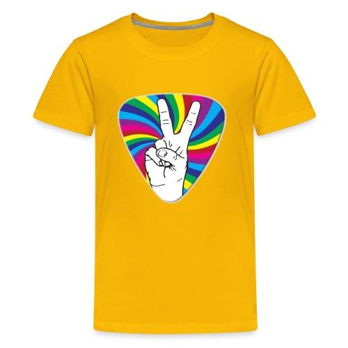 Peace Sign Guitar Pick - Kids' Premium T-Shirt