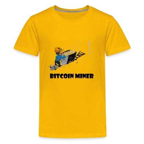 Funny bitcoin miner guy - Kids' Premium T-Shirt