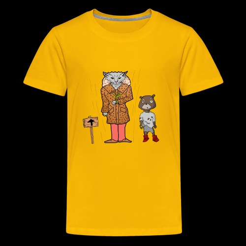 Tomkat Larry Only Pimps Tan Leather Ostrich Parka - Kids' Premium T-Shirt