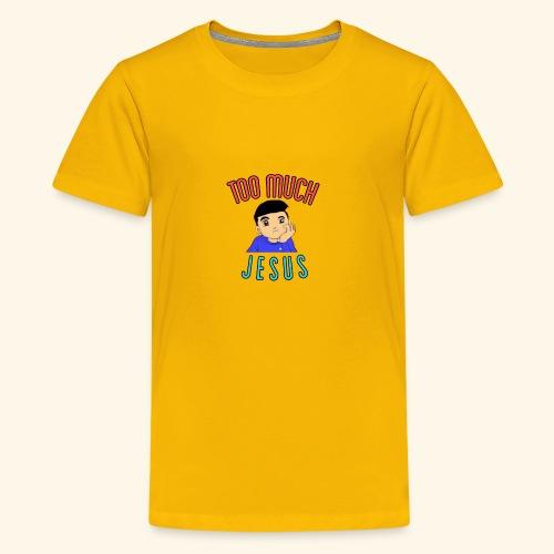 Too Much with Logo - Kids' Premium T-Shirt