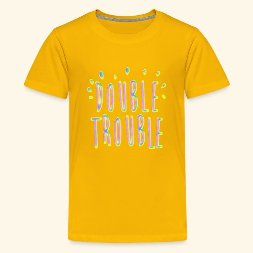 funny colorful letters design - Kids' Premium T-Shirt