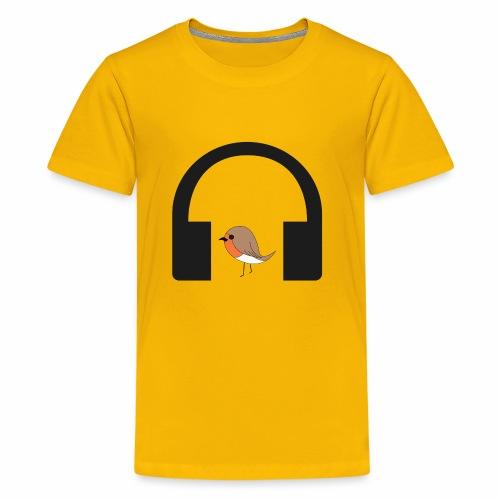 bird listen to music - Kids' Premium T-Shirt