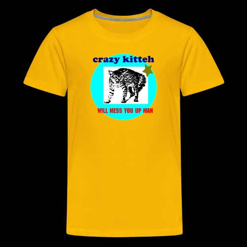crazy kitteh - Kids' Premium T-Shirt