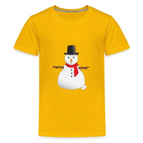 christmas-snowman-clipart-this-cute-snowman-clip-a - Kids' Premium T-Shirt