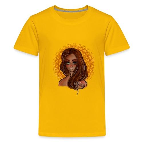 Beautiful Moon Girl Baddie - Kids' Premium T-Shirt