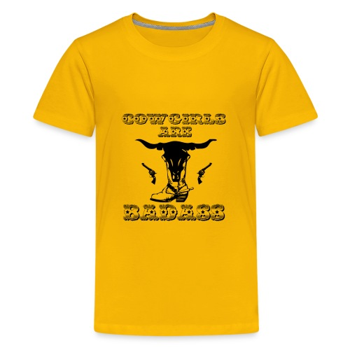 COWGIRLS ARE BADASS - Kids' Premium T-Shirt