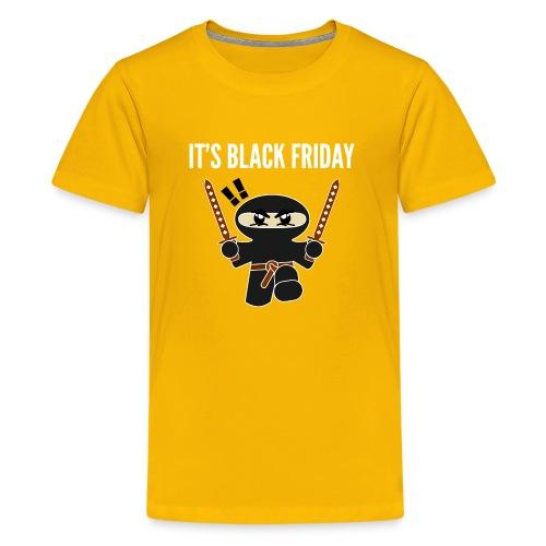 Black Friday Shopping Frenzy Ninja - Kids' Premium T-Shirt