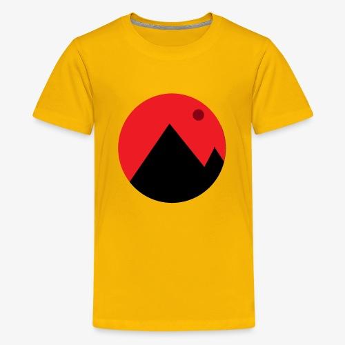 Mountain and the moon - Kids' Premium T-Shirt