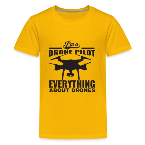 Everything About Drone - Drone Pilot V1 - Kids' Premium T-Shirt