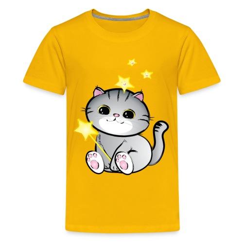 lucky chibi cat - Kids' Premium T-Shirt