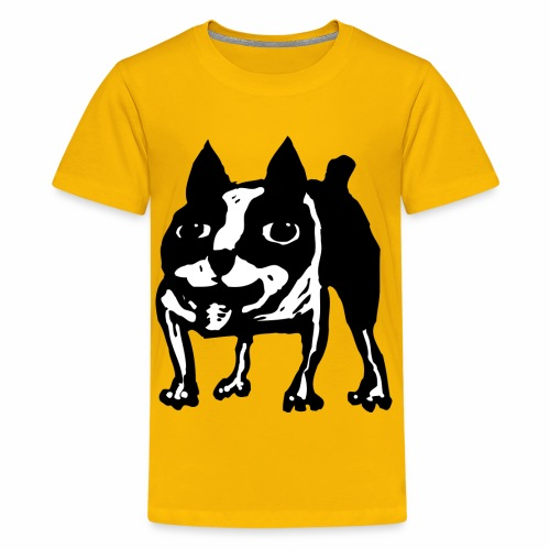 Mad Dog Boston Terrier - Kids' Premium T-Shirt