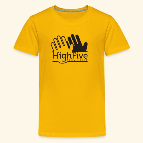 High Five Publishing Logo - black - Kids' Premium T-Shirt