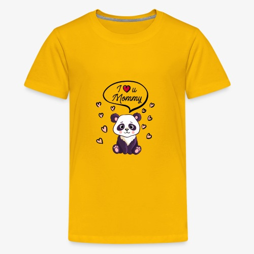I love you Mommy Panda Tshirt - Kids' Premium T-Shirt