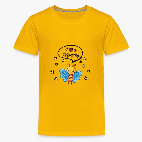 I love you Mommy Butterfly Tshirt - Kids' Premium T-Shirt