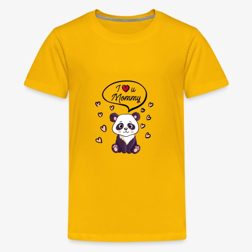I love you Mommy Panda Tshirt - Kids' Premium T-Shirt