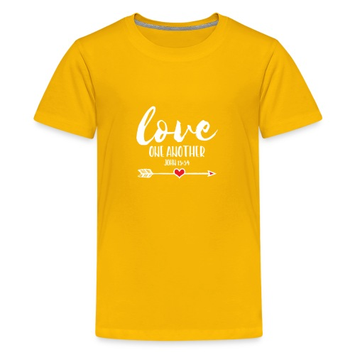 Love One Another, Christian Design - Kids' Premium T-Shirt
