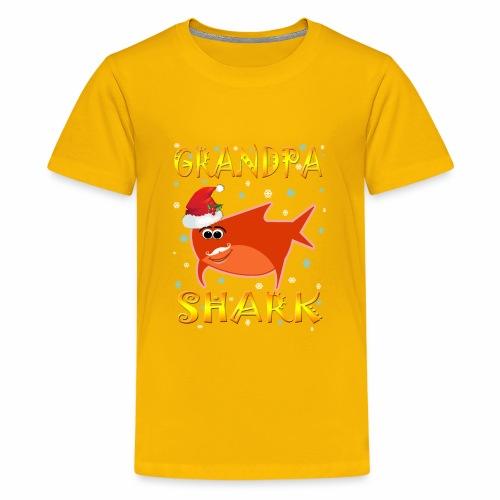 Grandpa Shark Christmas Design Gift Idea - Kids' Premium T-Shirt
