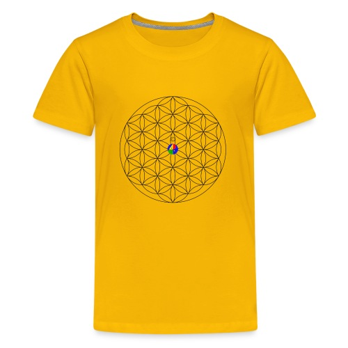 1200px-Flower-of-Life__aop-logo_light - Kids' Premium T-Shirt