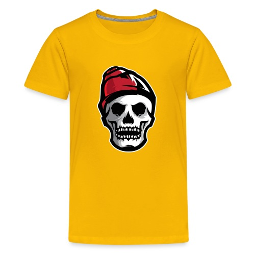 Custom Skull With Ice Cap Merch! - Kids' Premium T-Shirt