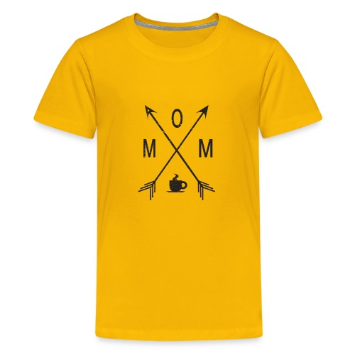 Mom Loves Coffee (black ink) - Kids' Premium T-Shirt