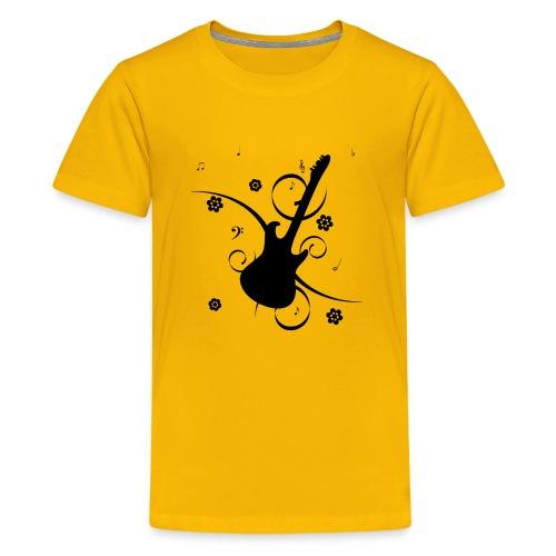 Floral Gitarre - Kids' Premium T-Shirt