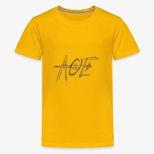 AOE Logo M1 Black - Kids' Premium T-Shirt