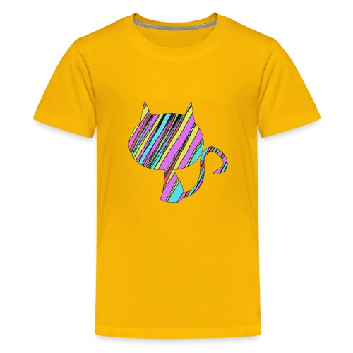 The Skis Cat - Kids' Premium T-Shirt