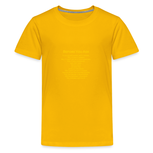 tshirt_pilotVersion_nologo_gold - Kids' Premium T-Shirt