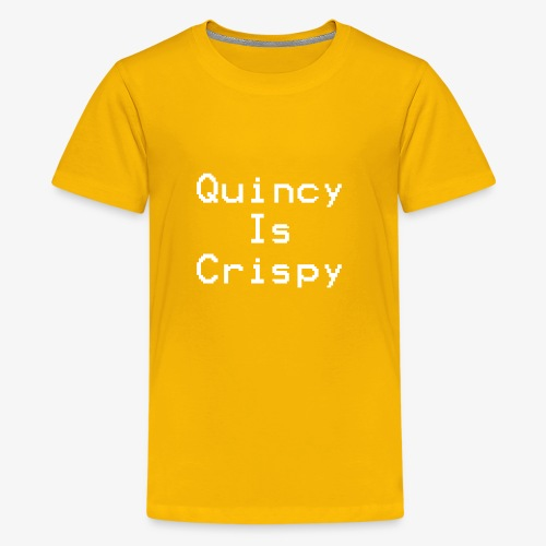 QuincyIsCrispy Text Logo (White) - Kids' Premium T-Shirt