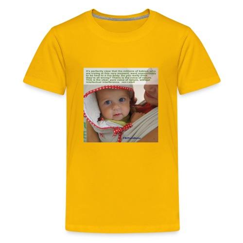 Liedlof - Pura Bebo Baby wearing - Octopus - Kids' Premium T-Shirt