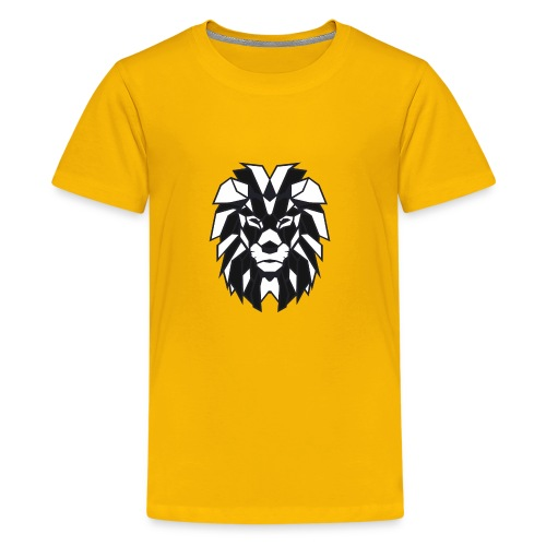 Lion black white - Kids' Premium T-Shirt