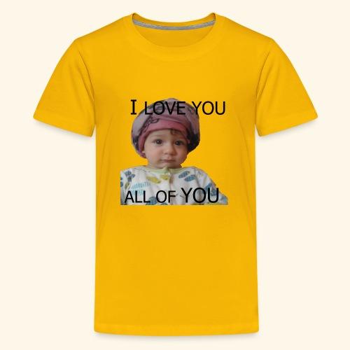 I love you all of you t-shirt - Kids' Premium T-Shirt