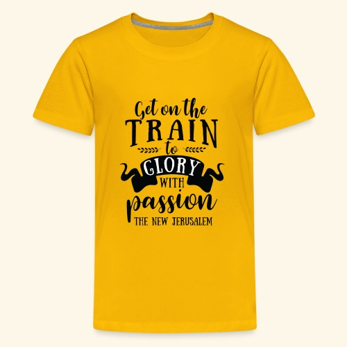 GET ON THE TRAIN - Kids' Premium T-Shirt