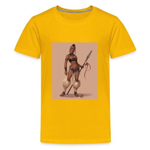 Female Warrior - Kids' Premium T-Shirt
