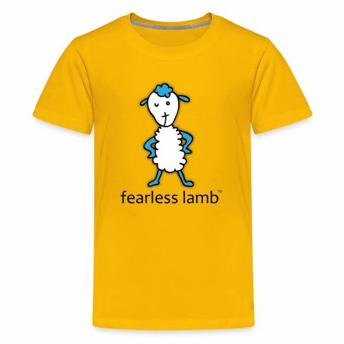 fearless lamb logo (Jesus) - Kids' Premium T-Shirt