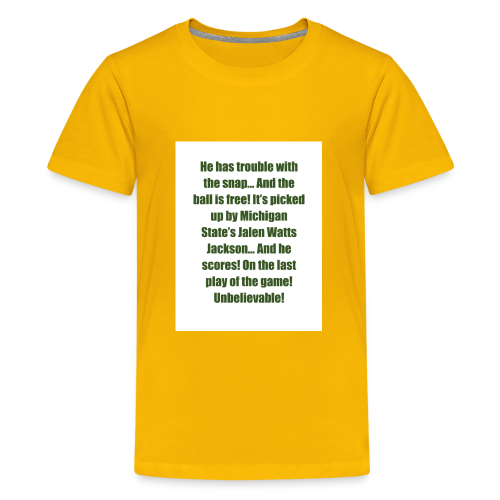 He_has_trouble_with_the_snap-1 - Kids' Premium T-Shirt