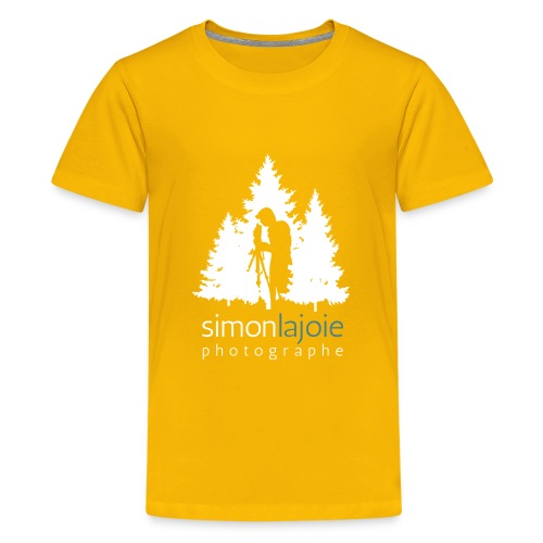 Logo Simon Lajoie Photographer White - Kids' Premium T-Shirt