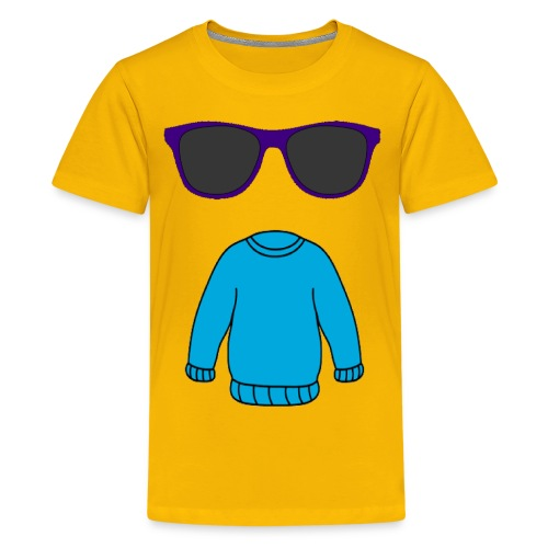 sweater glasses - Kids' Premium T-Shirt