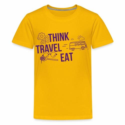 Think Travel Eat - Kids' Premium T-Shirt