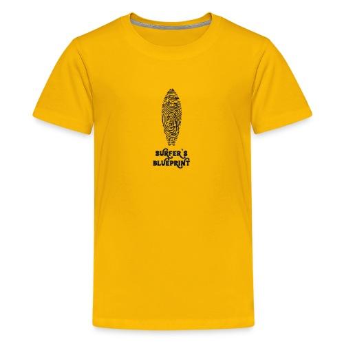 Surfer's Blueprint Ride Waves T-Shirt - Kids' Premium T-Shirt