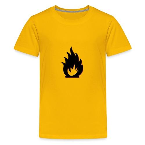 cute fire symbol - Kids' Premium T-Shirt