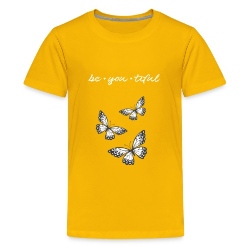 Be • You • Tiful Tank (Grey Tip Wings)-white font - Kids' Premium T-Shirt