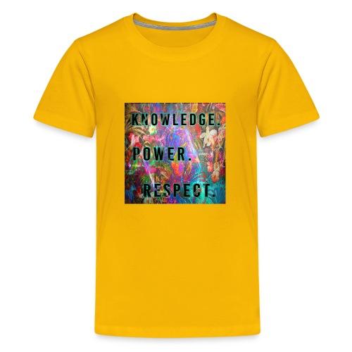 Knowledge Power Respect - Kids' Premium T-Shirt