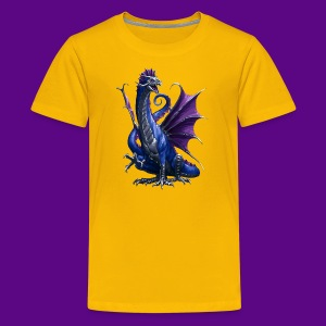 PURPLE AND BLUE WATER DRAGON - Kids' Premium T-Shirt