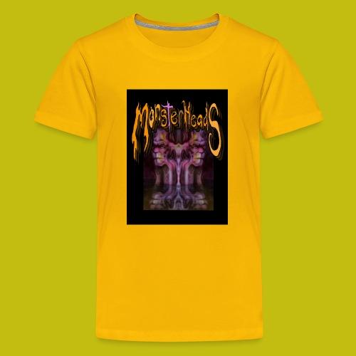MonsterHeads ~ Purple Bio-Organic Frankenstein's. - Kids' Premium T-Shirt
